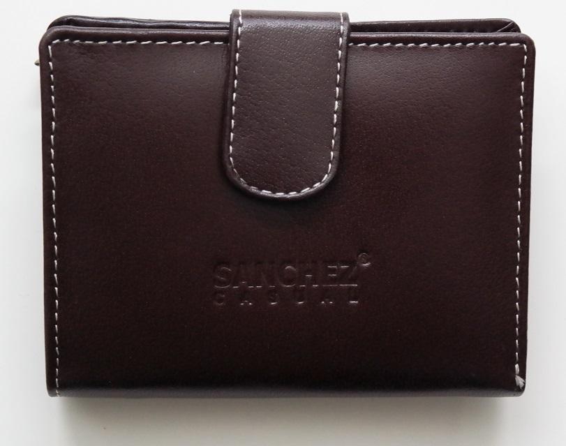 Tmavěhnědá kožená peněženka SANCHEZ
