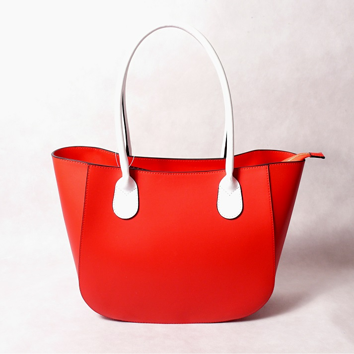 Kožená kabelka SI0912 šedobéžová