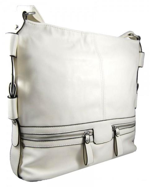 Velká bílá crossbody kabelka D1010