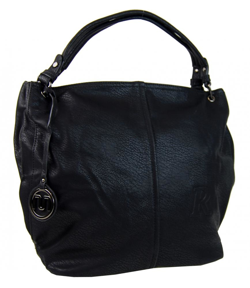 Velká černá kabelka na rameno 1904-BB