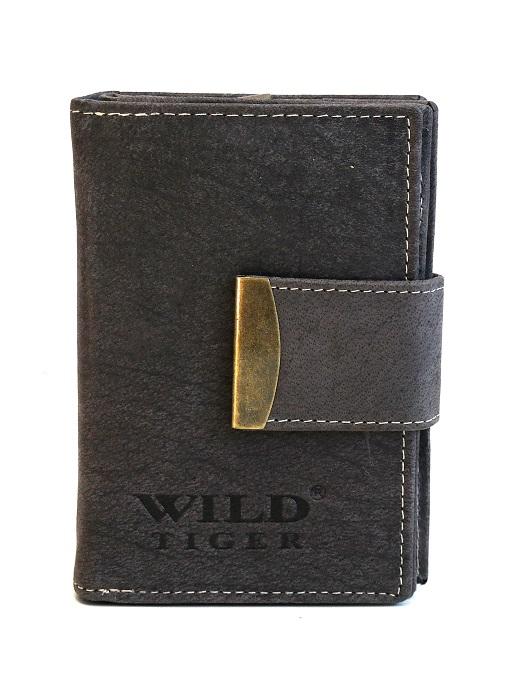 Šedá dámská kožená peněženka Wild Tiger