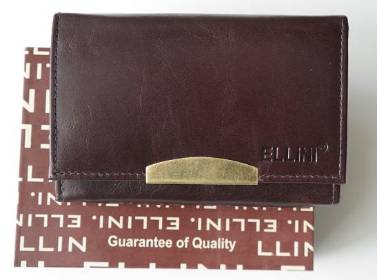 Tmavěhnědá dámská kožená peněženka ELLINI