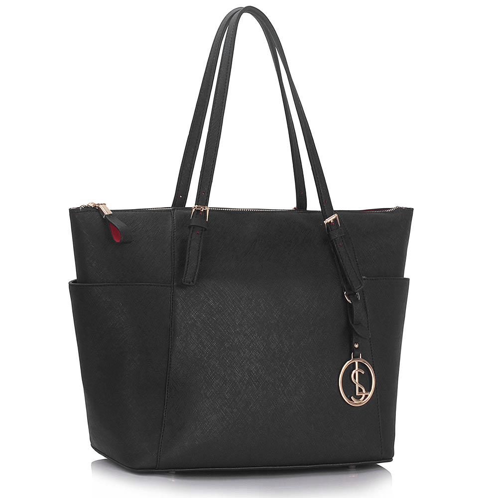 Černá kabelka na rameno LS00350