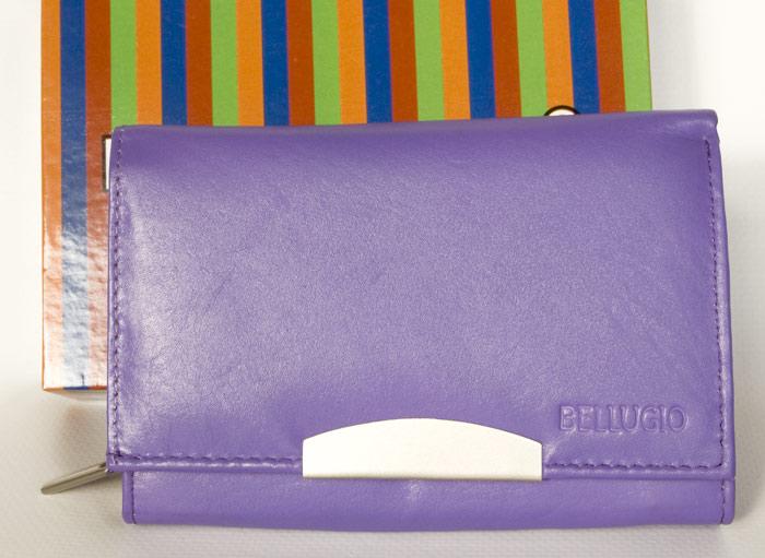Fialová kožená peněženka BELLUGIO