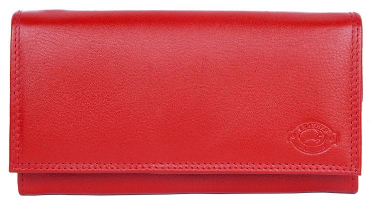 Červená kožená peněženka Gazello
