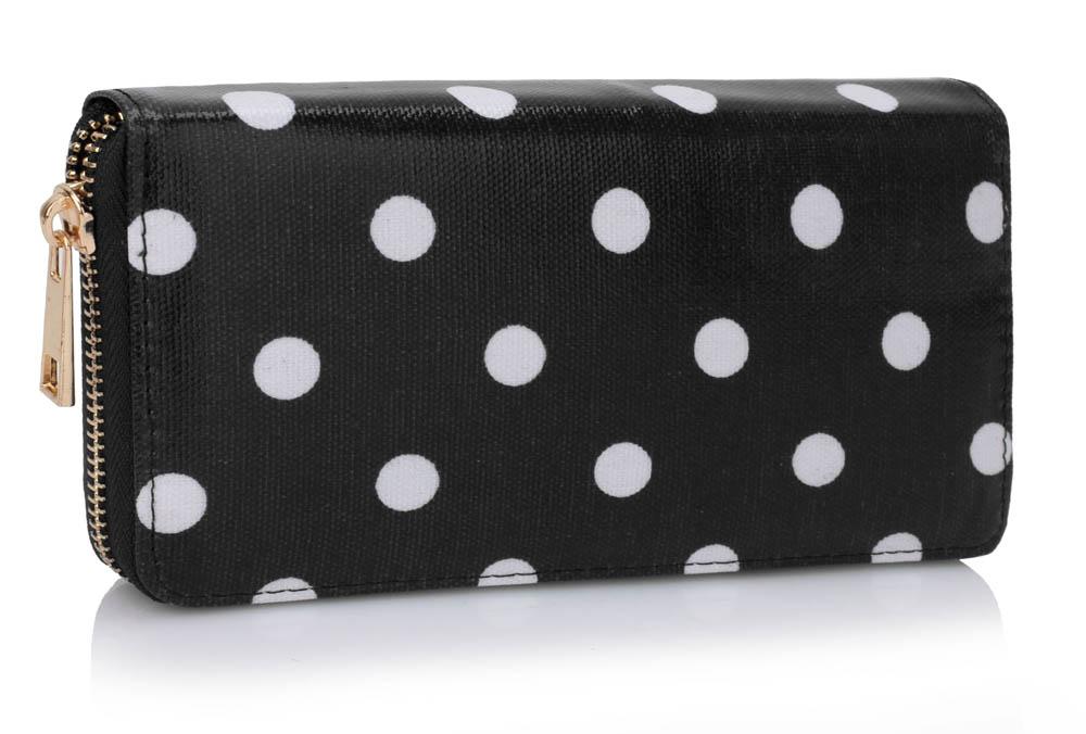 Černobílá puntíkatá peněženka LSP1062 z Anglie