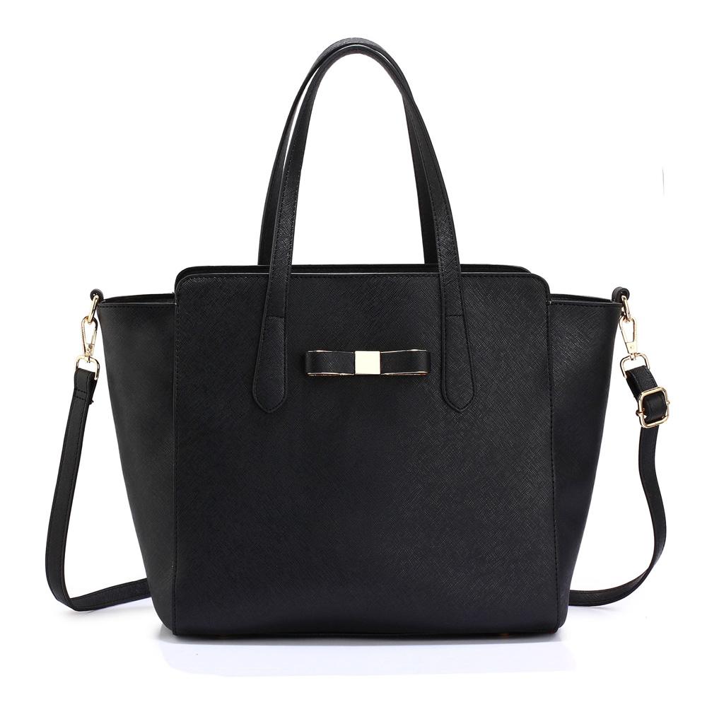 Velká černá kabelka do ruky AG00402