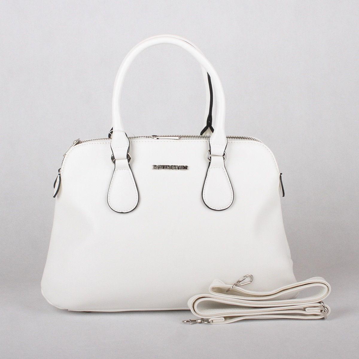 Bílá kabelka do ruky David Jones CM3001