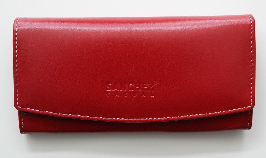 Černá kožená peněženka SANCHEZ