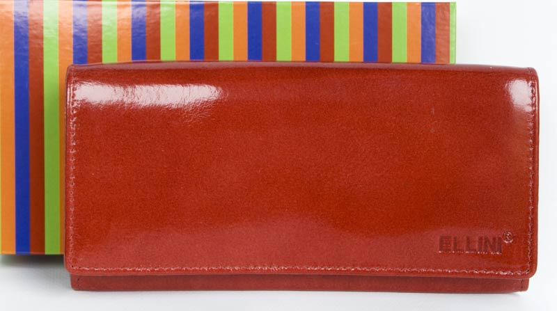 Lesklá kožená peněženka Ellini