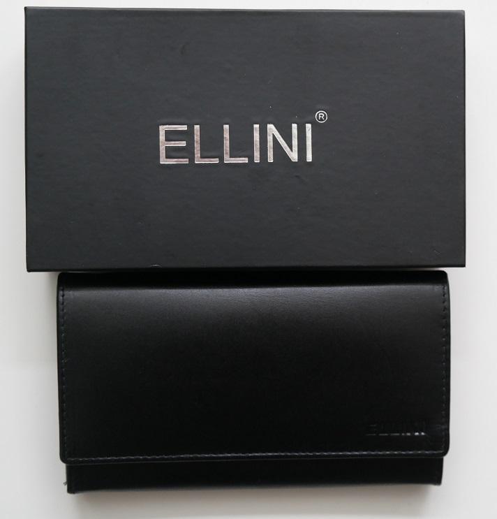 Černá kožená peněženka Ellini