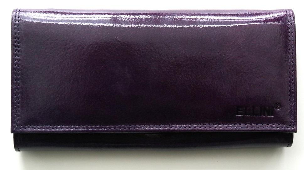 Lesklá fialová peněženka Ellini
