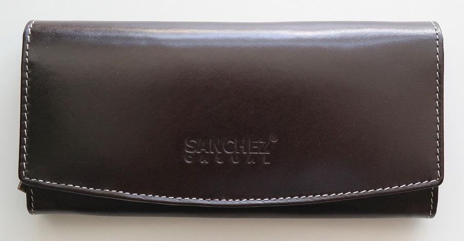 Hnědá kožená peněženka SANCHEZ