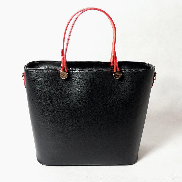 Kožená kabelka SI0120 černá