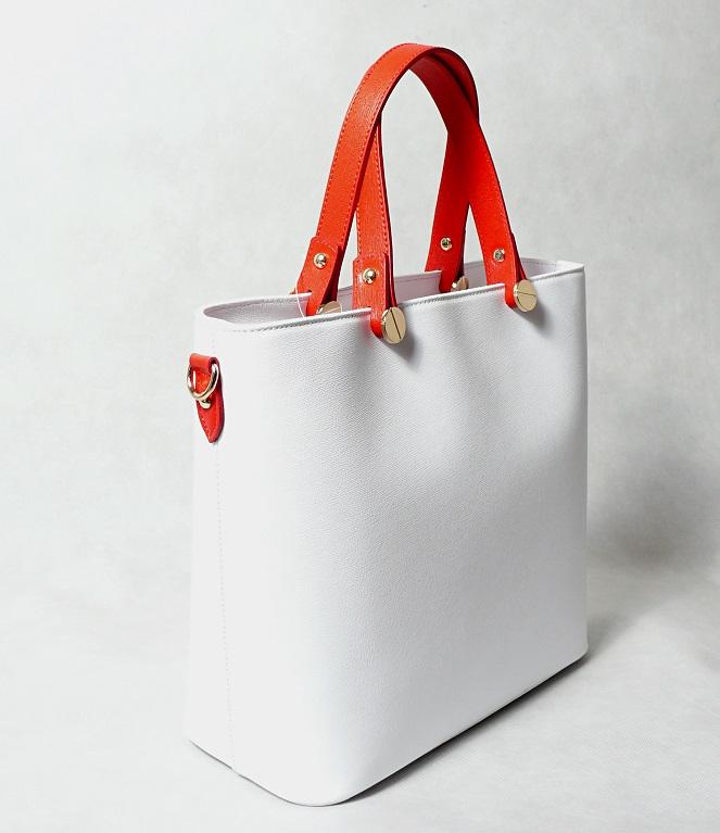 Kožená kabelka SI0120 bílá