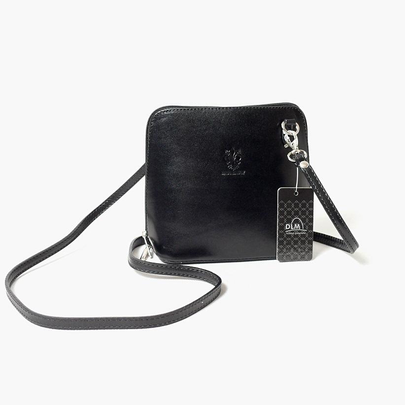 Kožená kabelka SI1730 černá