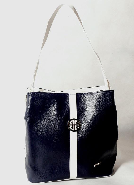 Kabelka Grosso S404 modro-bílá
