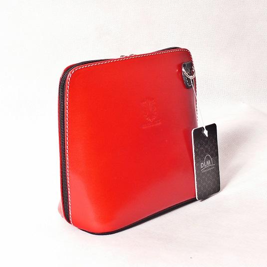 Kožená kabelka SI1730 červená