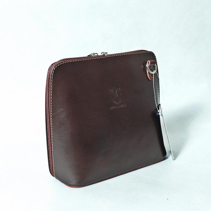 Kožená kabelka SI1730 tmavěhnědá