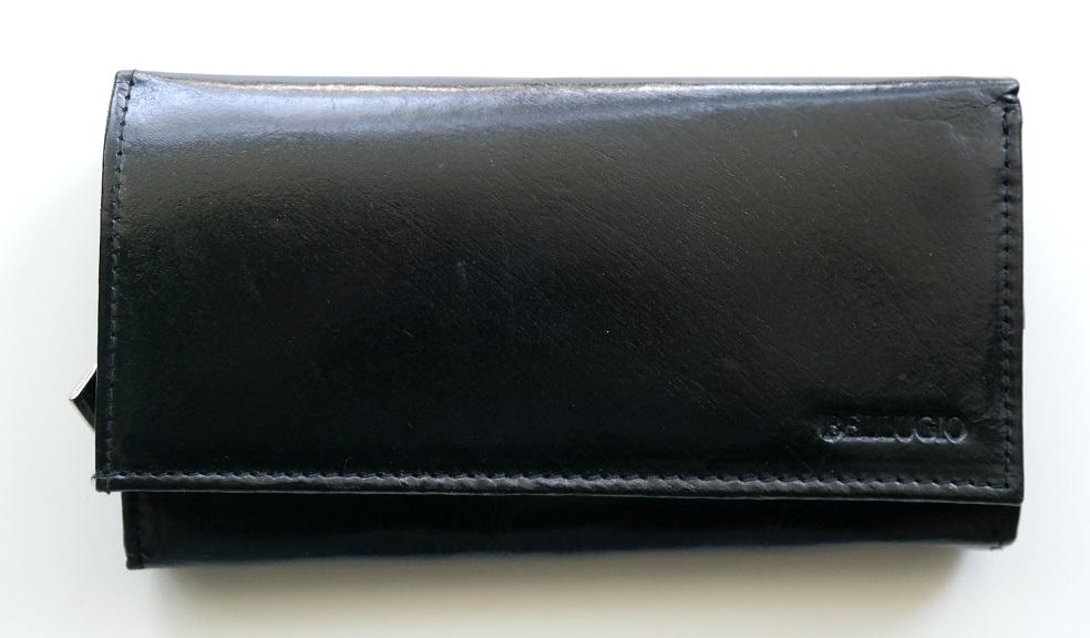 Černá kožená peněženka BELLUGIO