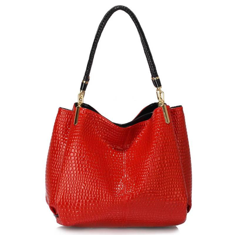 Červená kabelka LS00243 na rameno