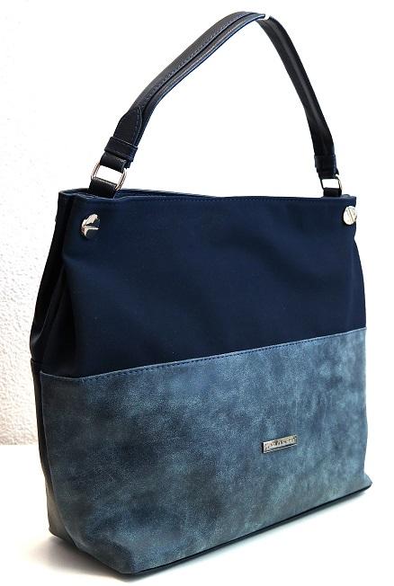 Kabelka Grosso S613 modro-šedá