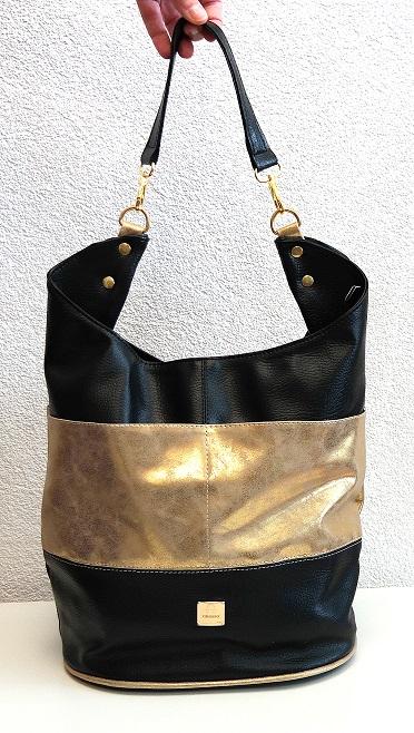 Kabelka Grosso S580 zlato-černá