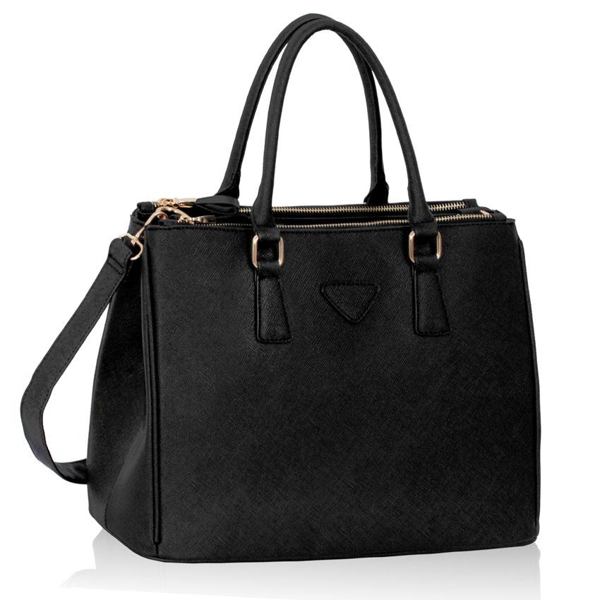 Černá kabelka do ruky LS00184M