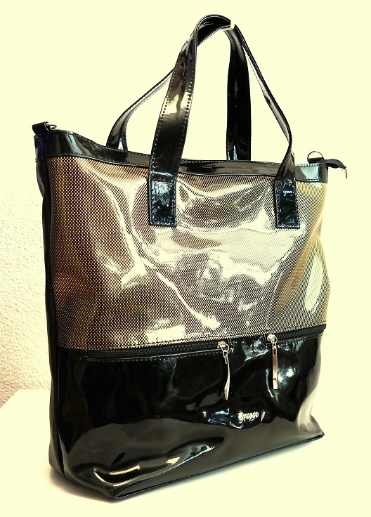 Velká taška do ruky Grosso GR666 černo-zlatá