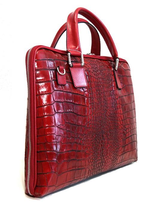 """Kožená taška na notebook 14.1"""" červená (bordeaux)"""
