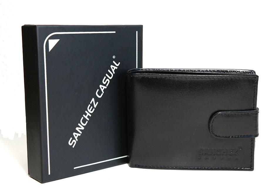 Černá pánská kožená peněženka SANCHEZ Casual no. 032