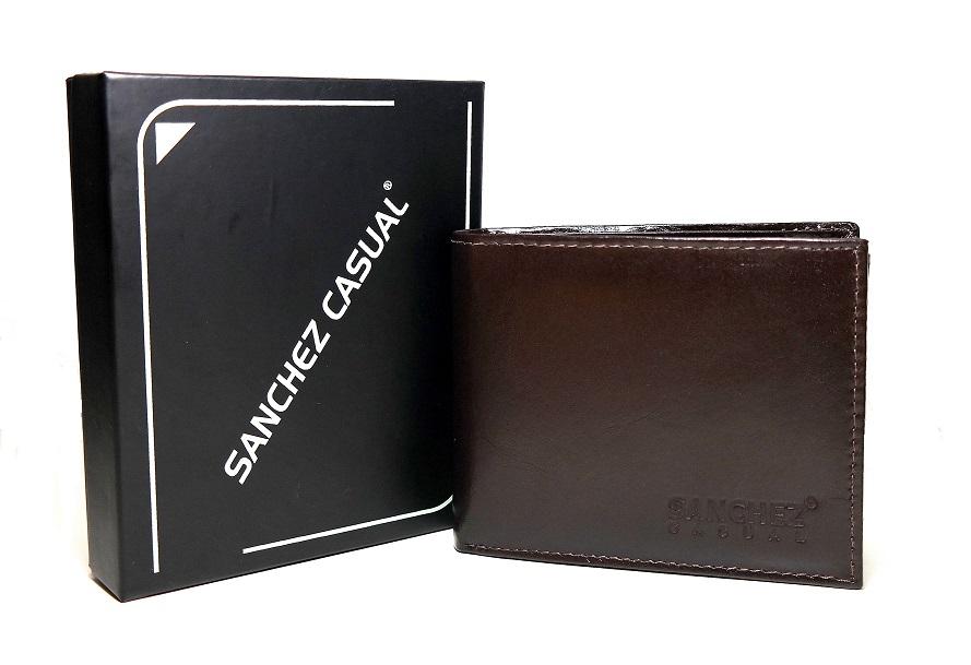 Hnědá pánská kožená peněženka SANCHEZ Casual no. 032A podélná