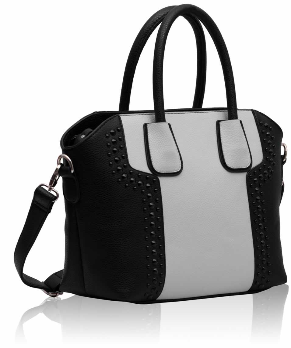 Levná černobílá kabelka LS0094 z Anglie