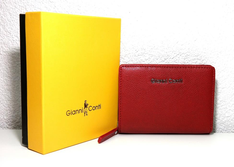 Luxusní červená kožená peněženka Gianni Conti no. 586