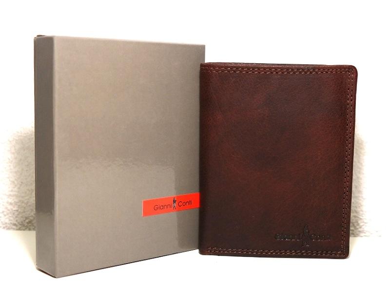 Hnědá pánská kožená luxusní peněženka Gianni Conti no. 1077219