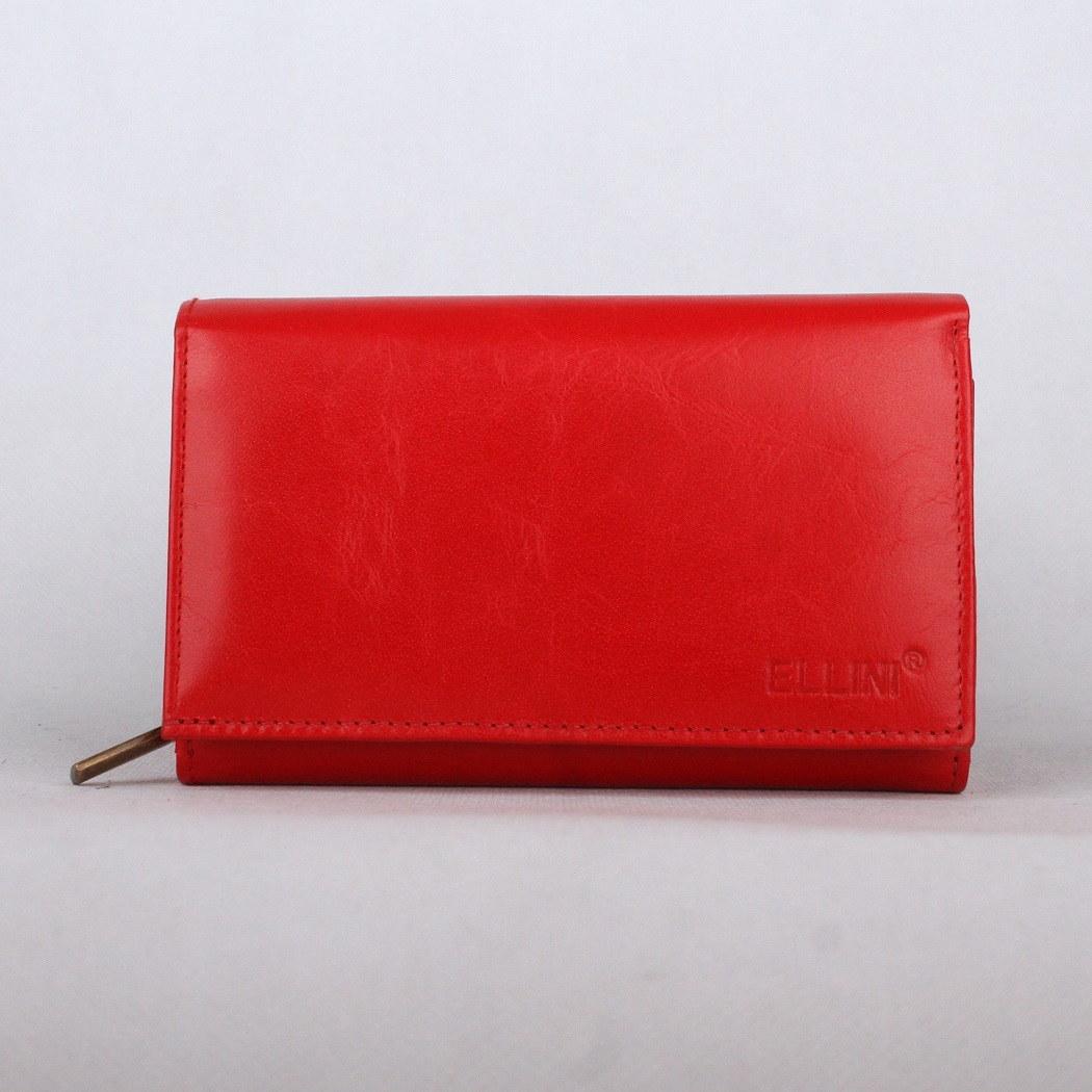 Červená kožená peněženka ELLINI ADE-21-215