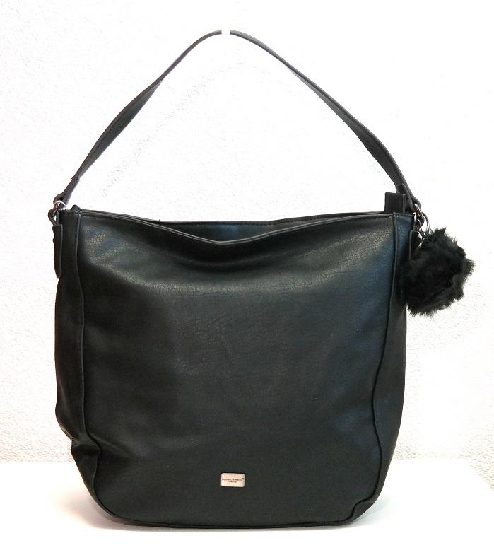 Kabelka na rameno David Jones 5258-1 černá s bambulí