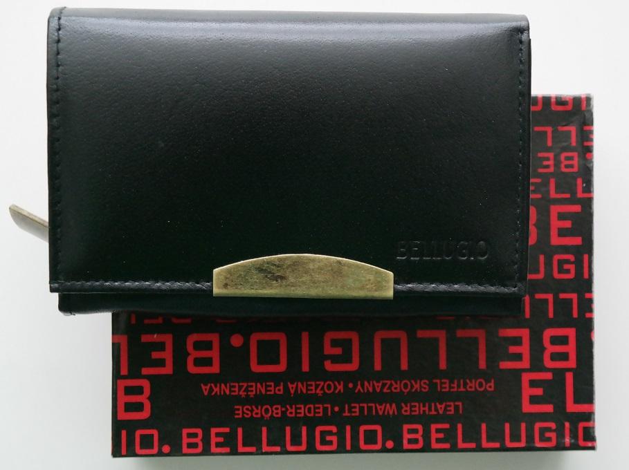 Černá dámská kožená peněženka BELLUGIO