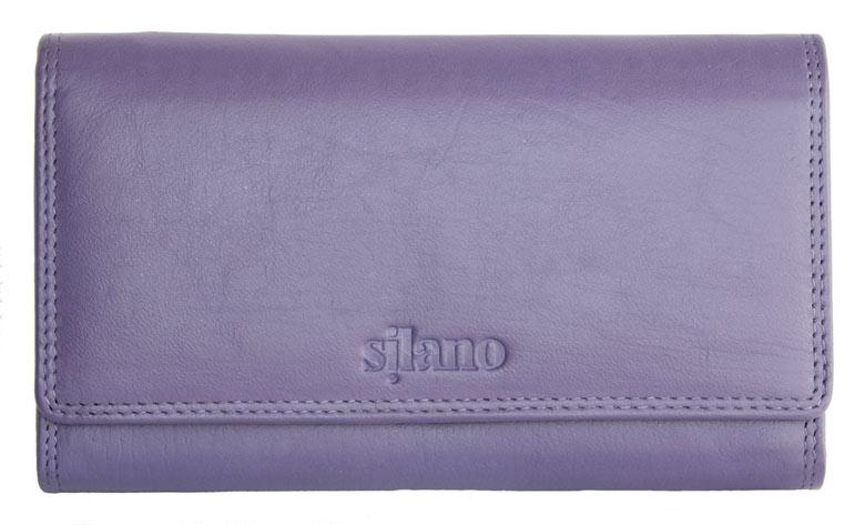Fialová dámská kožená peněženka Silano