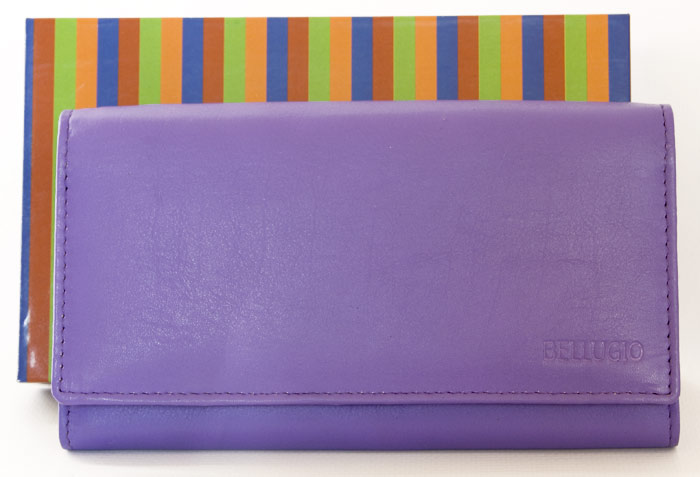 Fialová dámská kožená peněženka BELLUGIO