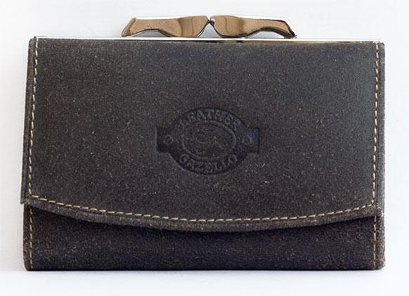 Hnědozelená dámská kožená peněženka Gazello
