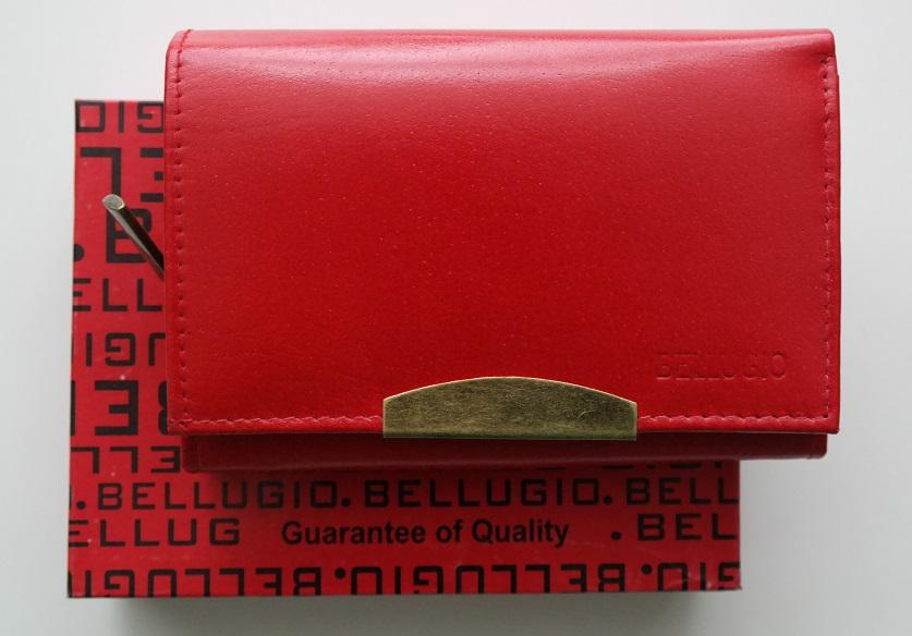 Červená dámská kožená peněženka BELLUGIO