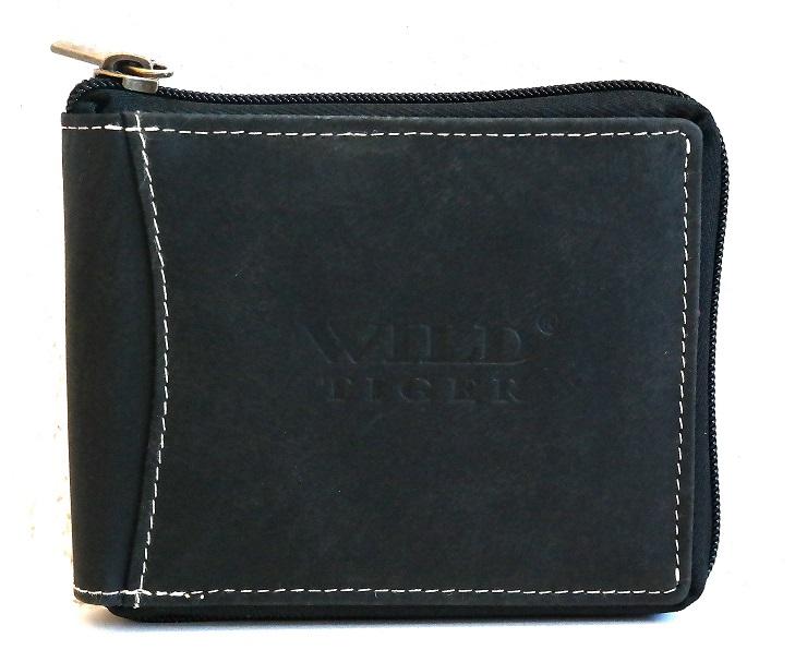 Celozipová peněženka Wild Tiger černá