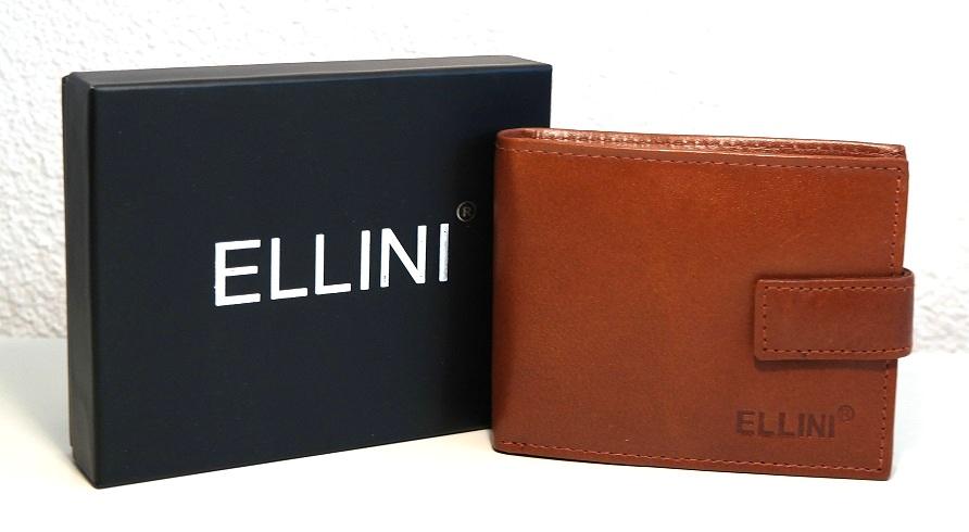 Malá světlehnědá pánská kožená peněženka ELLINI