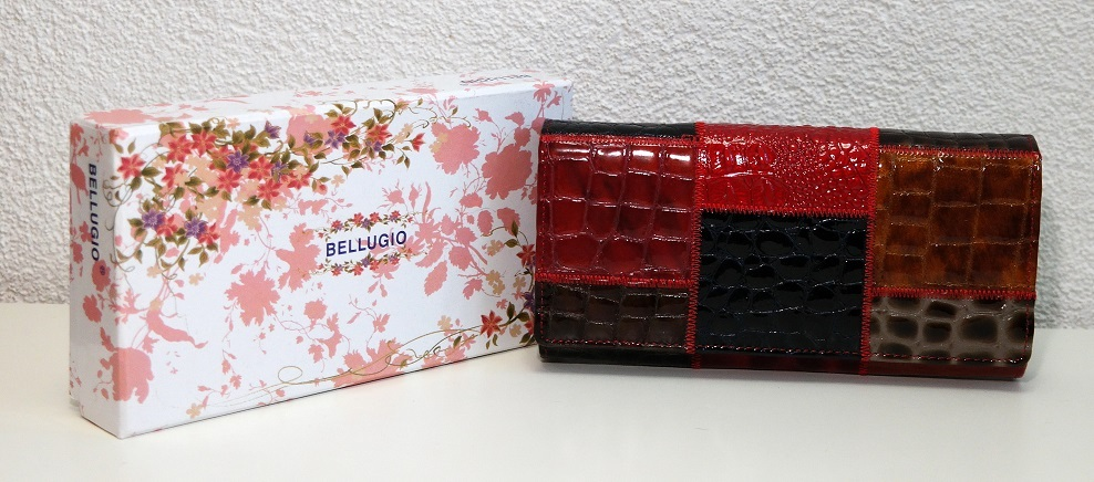 Vícebarevná dámská kožená peněženka BELLUGIO