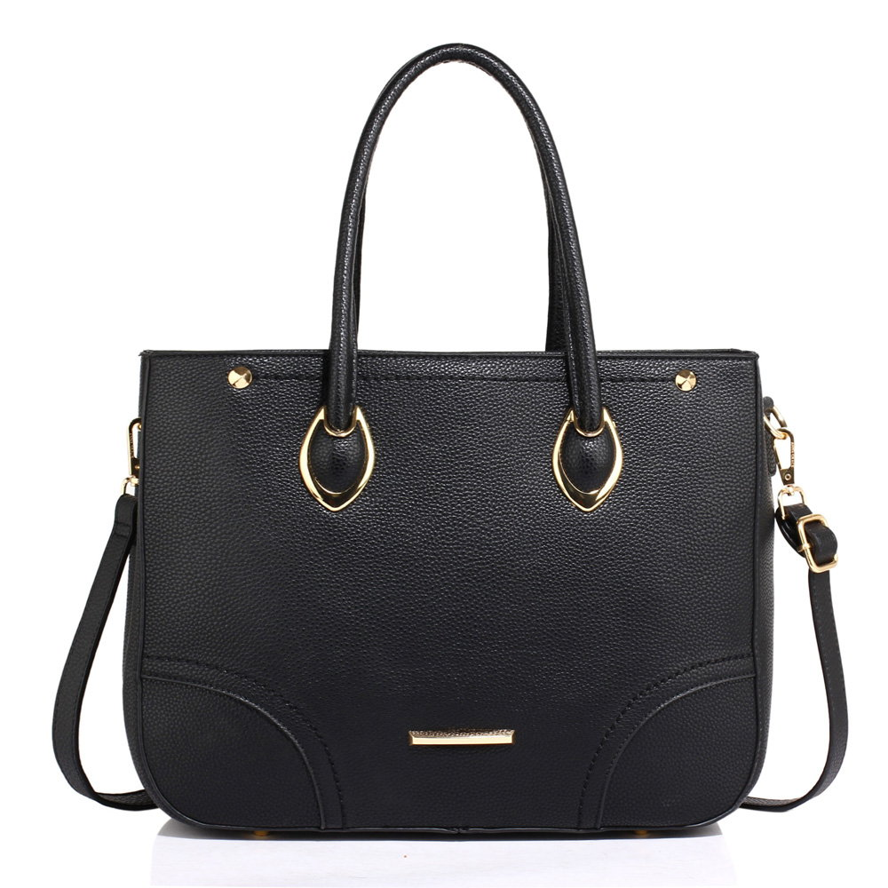 Černá velká kabelka do ruky i na rameno AG00515 černá