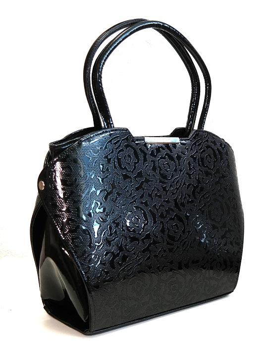 Kabelka Grosso černá s ornamenty