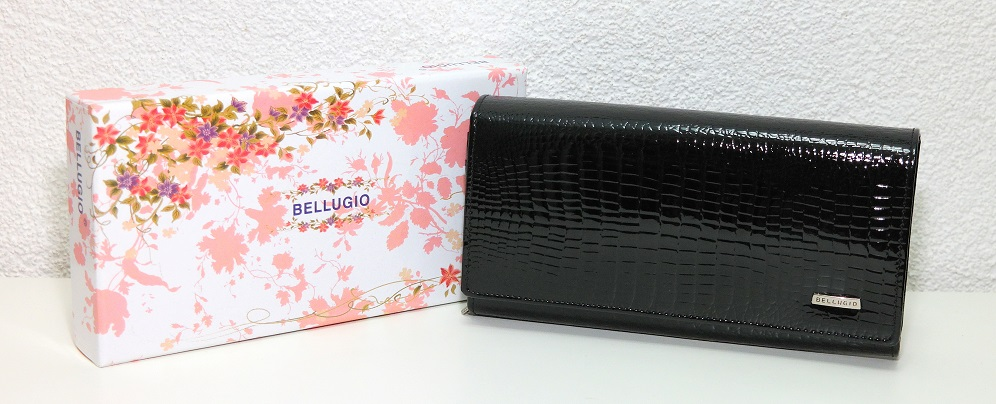 Peněženka BELLUGIO černá lesklá
