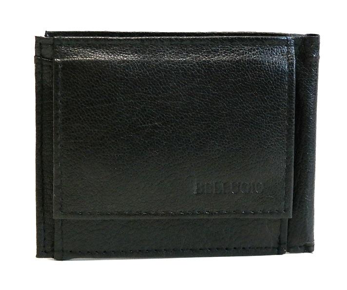 Černá pánská kožená peněženka dolarovka BELLUGIO podélná