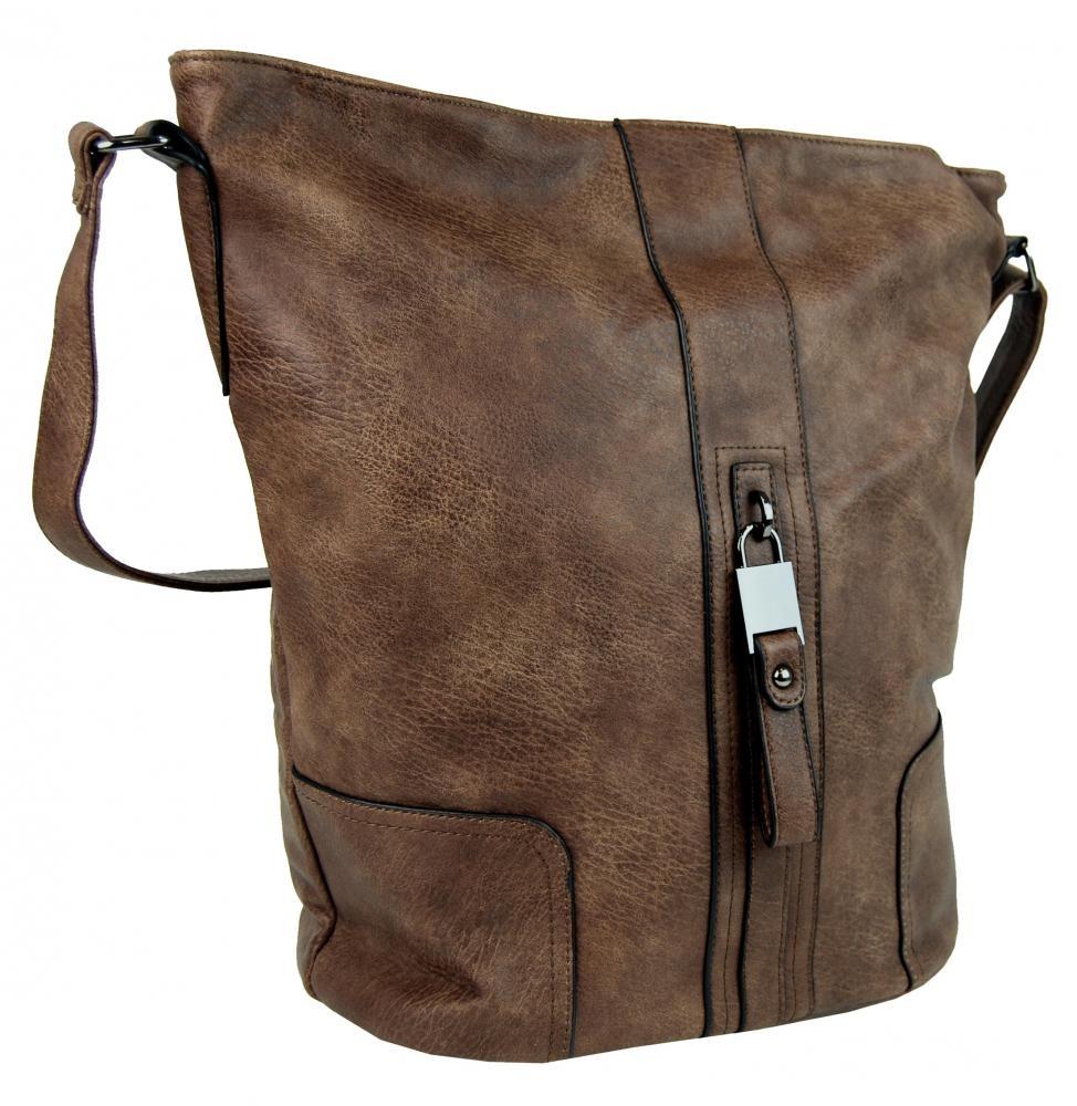 Crossbody kabelka OS0001 přírodní hnědá